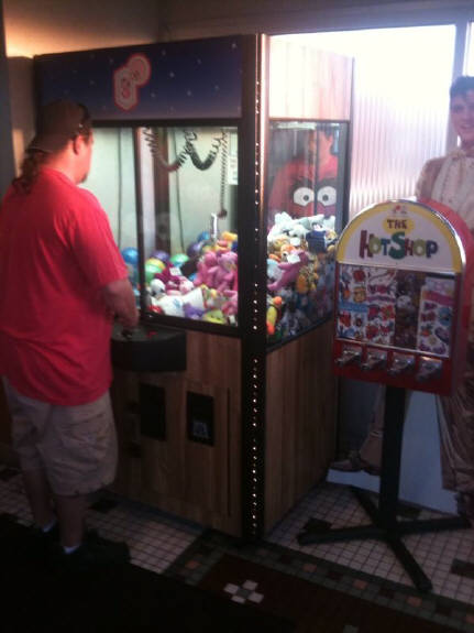 Try your   skill at the  Crane game.