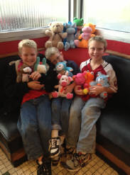 Colton 9  Triston 8  Brayton 6   11 stuffed  prizes on  the Crane    Thats got   to be a  record !