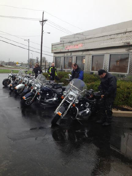 We had Eight Bikers come in during the rain Wednesday. They are from Germany and touring Route 66. After they warmed up, they got on their Cycles and headed to OKC. Have a safe trip home to Germany guys!