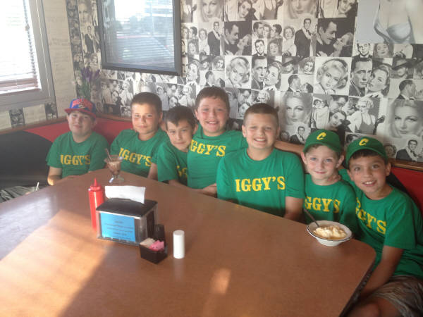 Great to see our sponsored baseball team at the Diner. You Guys are Great