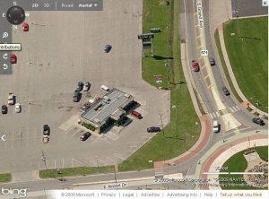 aerial view diner